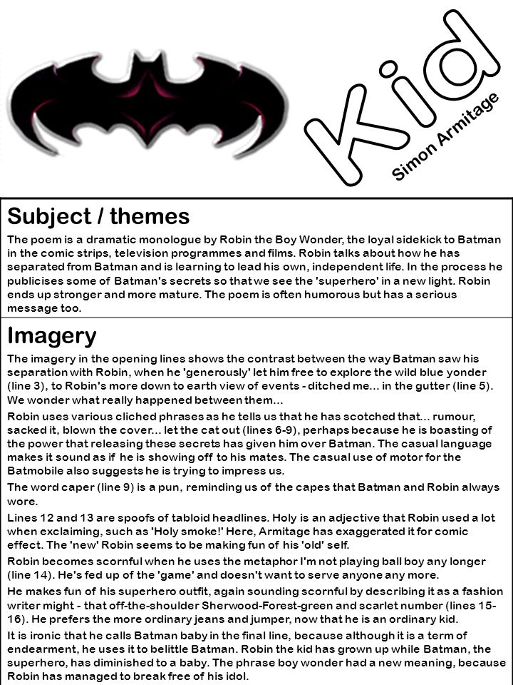 Kid subject themes imagery simon armitage ppt download for The power of meaning crafting a life that matters