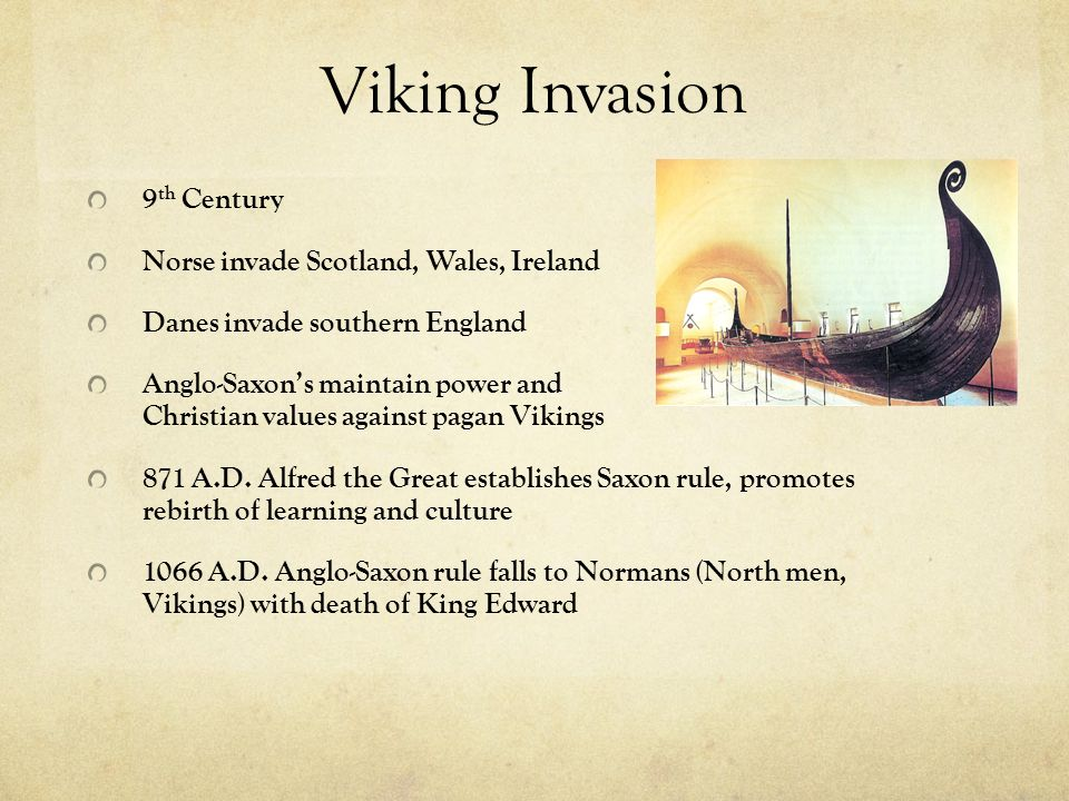 Viking Invasion 9th Century Norse invade Scotland, Wales, Ireland