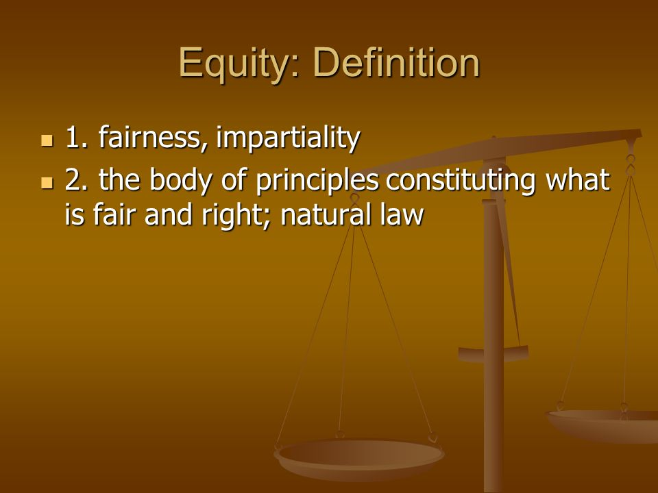 Equity Definition: