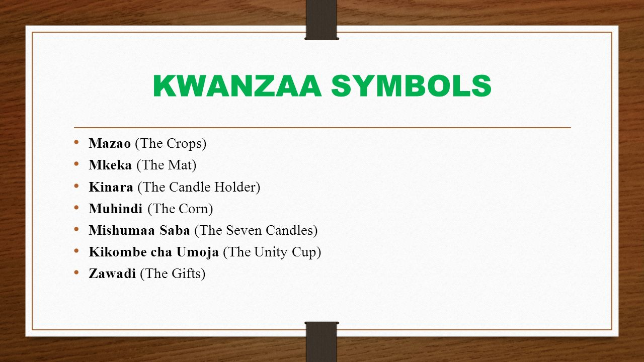 Kwanzaa Celebrations Ppt Download