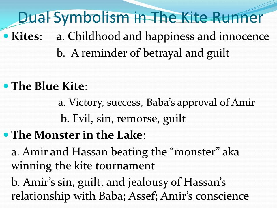 symbolism essay for the kite runner