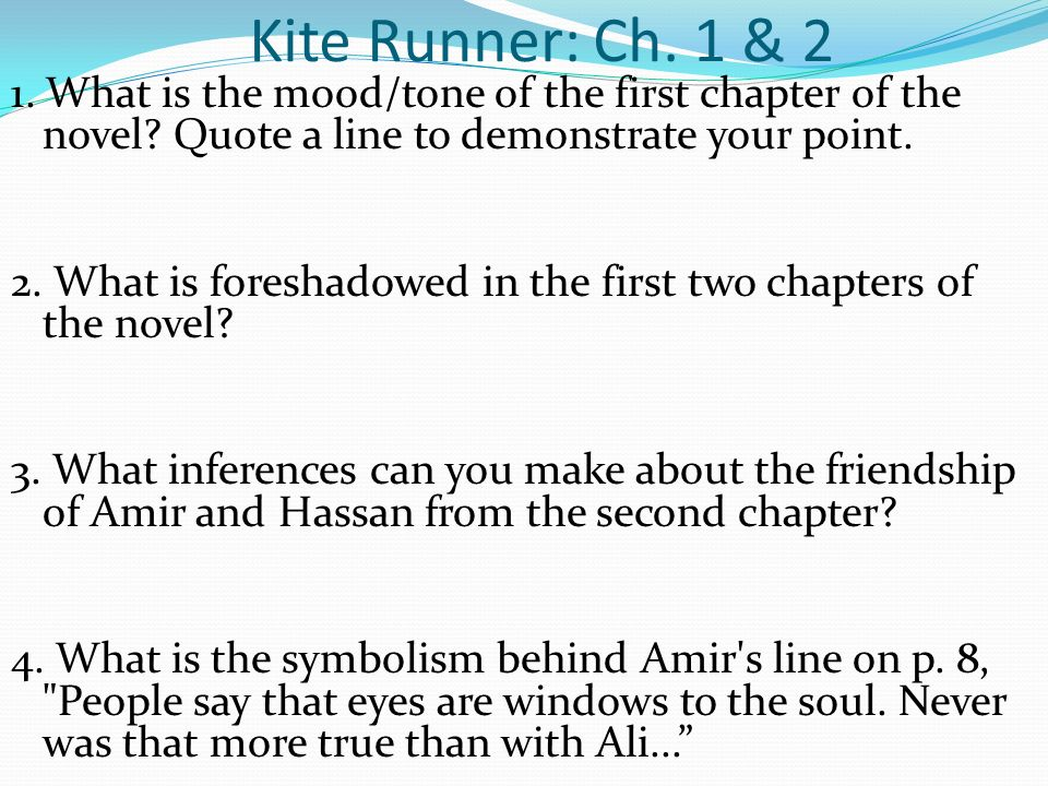 kite runner chapter quotes I loved the book the kite runner by khaled hosseini, and found many funny,  insightful, and inspirational quotes while reading, which i share.