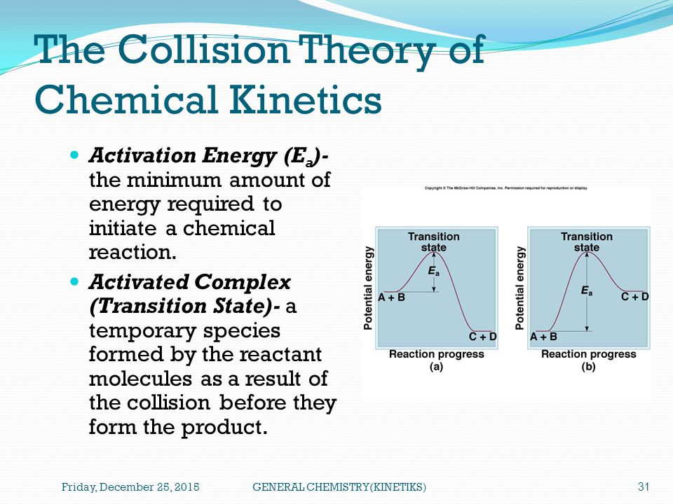 chemistry collision theory Particles, such as molecules, atoms and ions can only react if they bump into each other this explains how chemical reactions occur and why reaction rates differ for.
