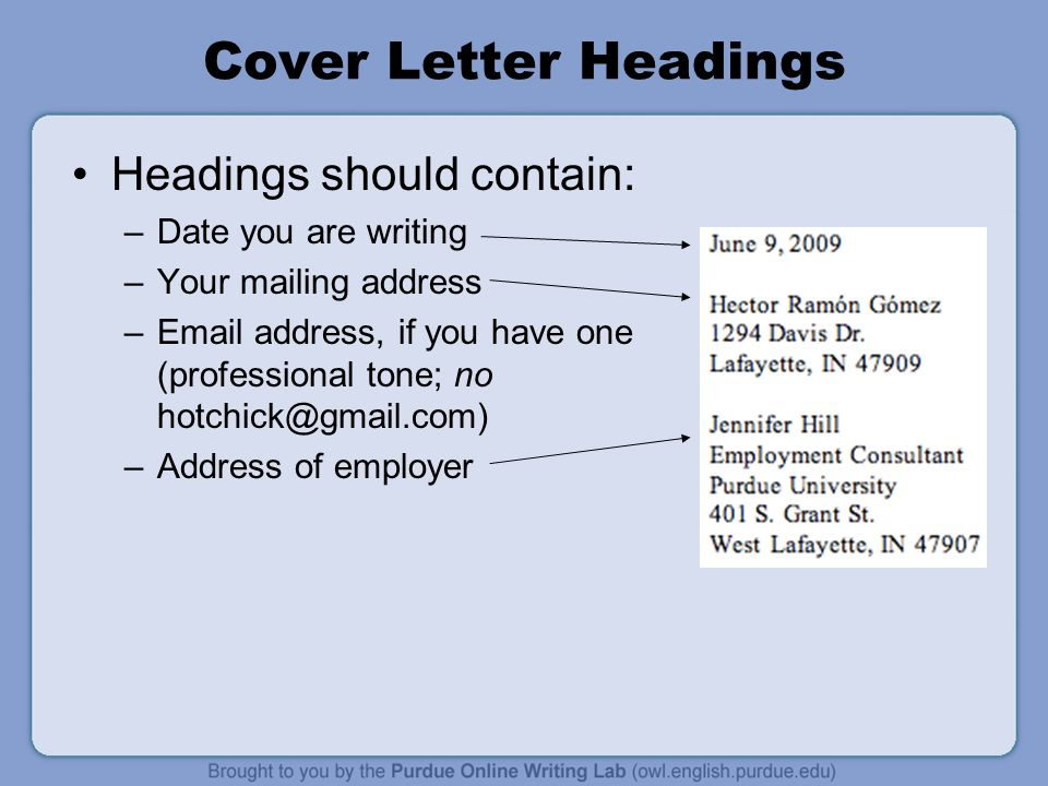 Cover letter workshop rationale welcome to the workone for Who should you address your cover letter to
