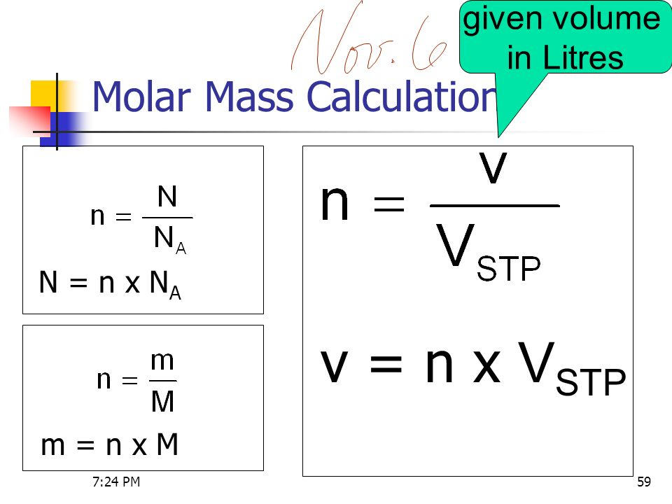 molar calculations A simple tutorial on converting moles to ugs and for converting molar  concentrations to ug amounts.