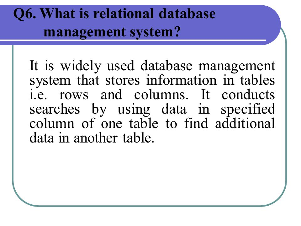 application of database management system ppt