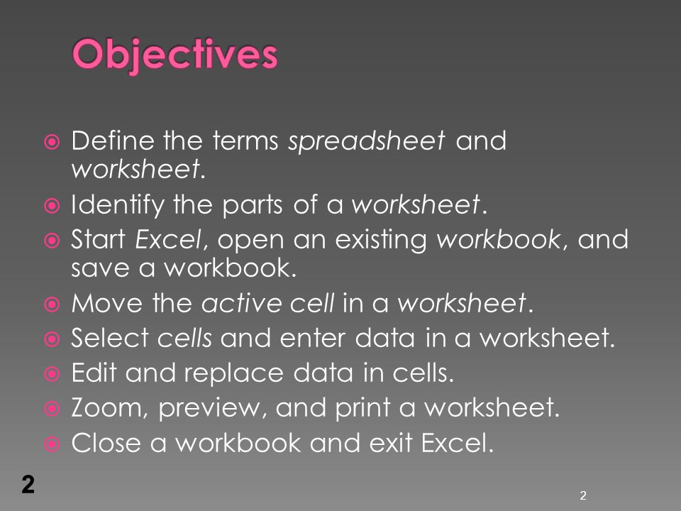Excel Lesson 1 Microsoft Excel Basics ppt download – Define Worksheet