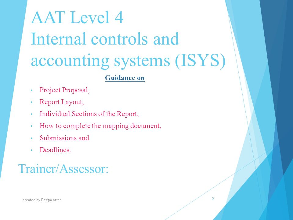 AAT Level   Project  ISYS or ICAS    Osborne Training Farmers Markets