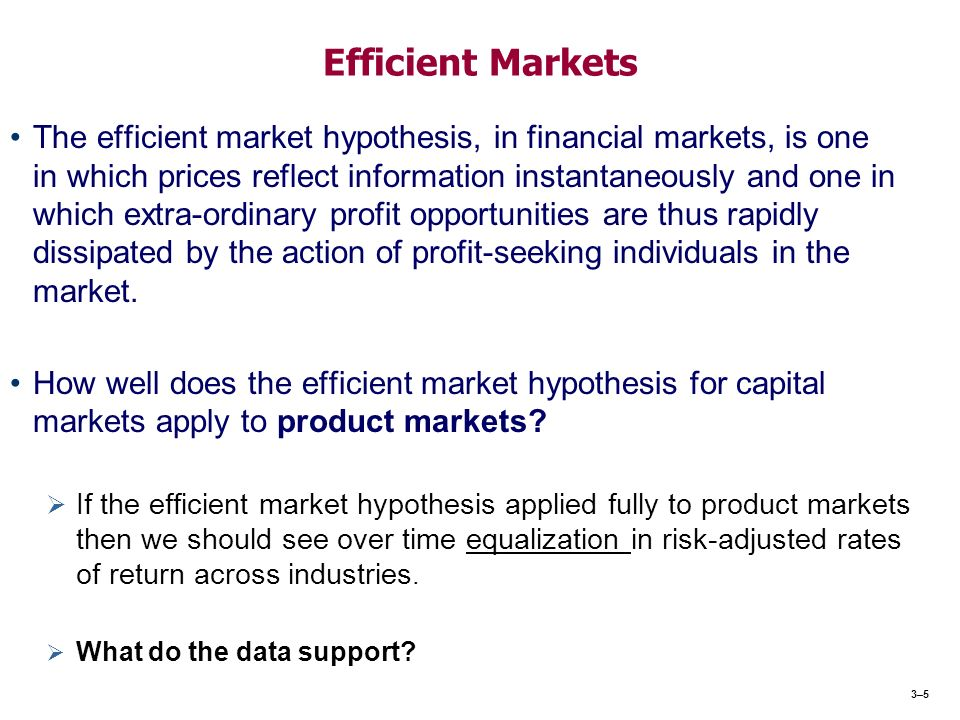 Analysis of the efficient market hypothesis
