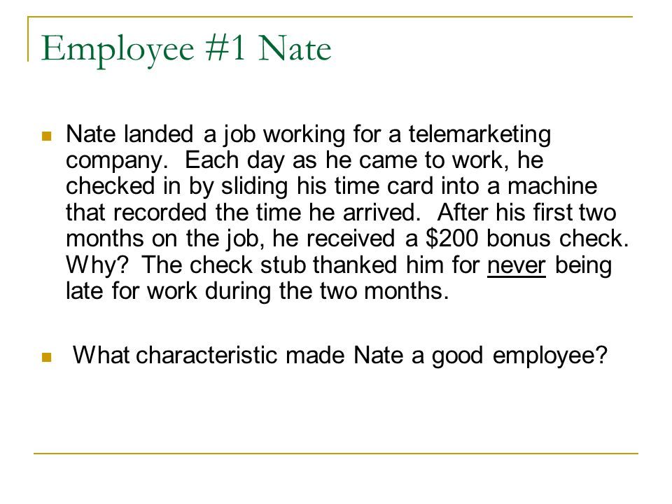 What Makes a Good Employee? - ppt download