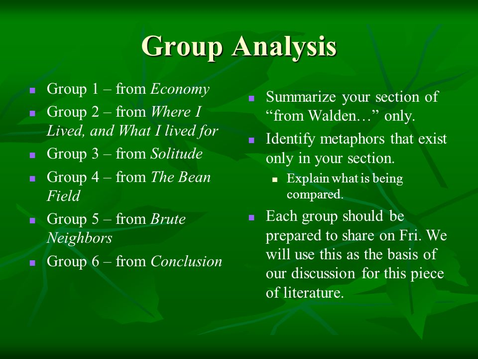 from walden or life in the woods ppt video online  group analysis group 1 from economy