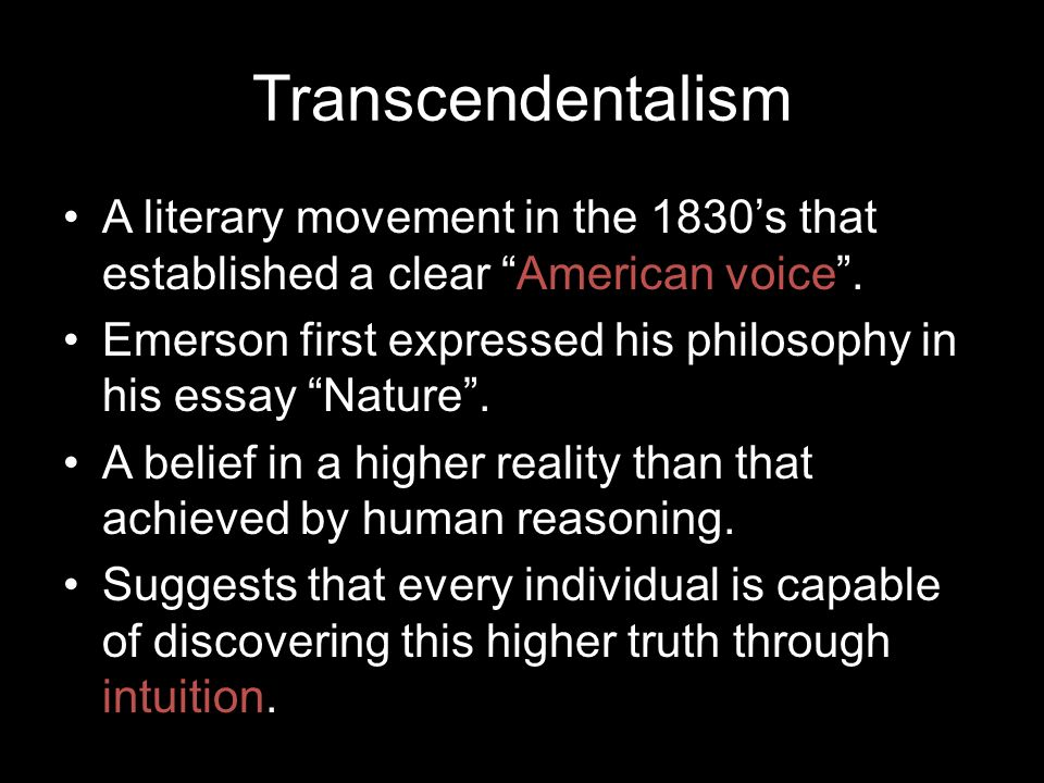 Thesis Statement Analytical Essay Transcendentalism An American Philosophy What Is A Synthesis Essay also Sample Of Synthesis Essay The Philosophy Of Transcendentalism Essay English Essays Examples