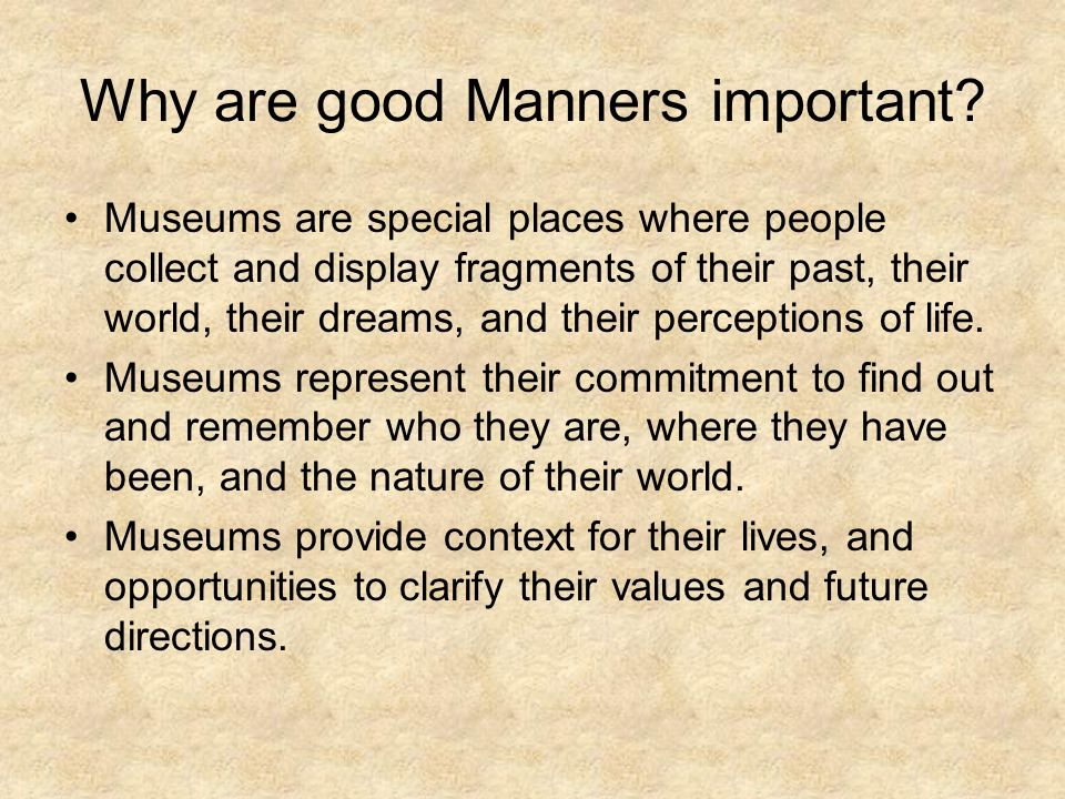 why are good manners important essay
