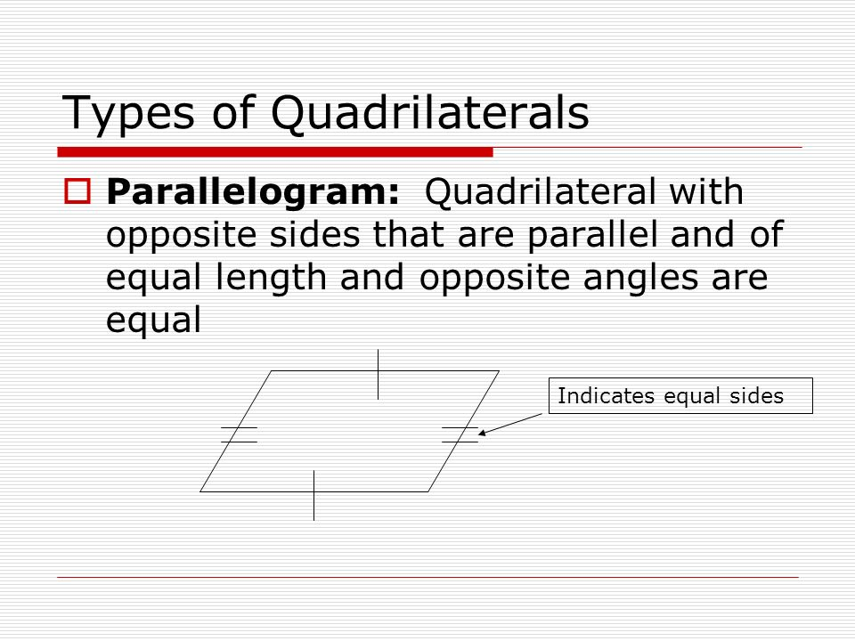 what quadrilaterals have four sides of equal length that meet