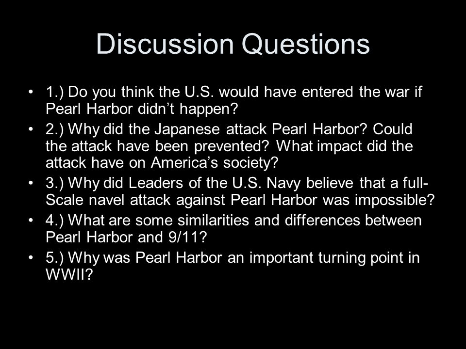 9 11 and pearl harbor similarities Some of the similarities are uncanny like 9/11, pearl harbor was another bloody ambush on american soil  years after: 9/11 and pearl harbor remembered.
