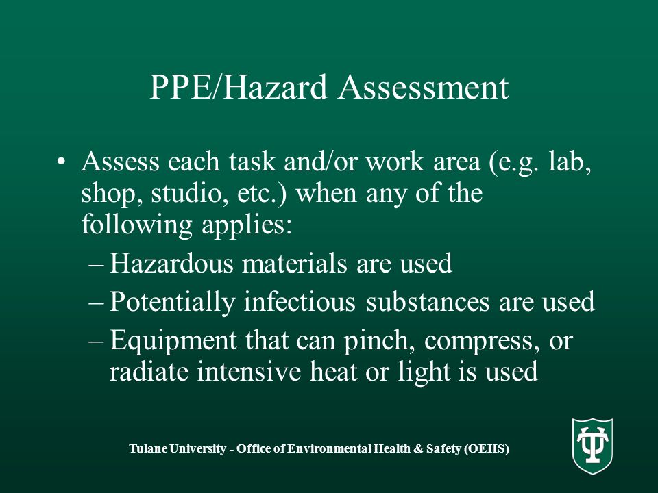Personal Protective Equipment (PPEs) - Basics
