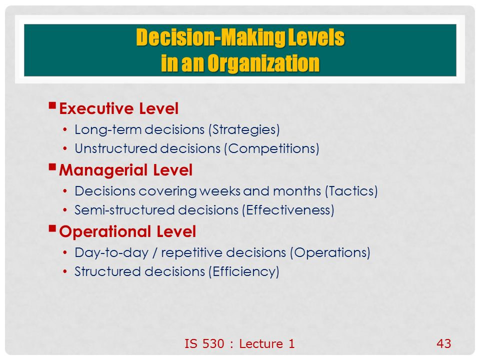 decision making in organisation Decision making process is continuous and indispensable component of  managing any organization or business activities decisions are made to sustain  the.