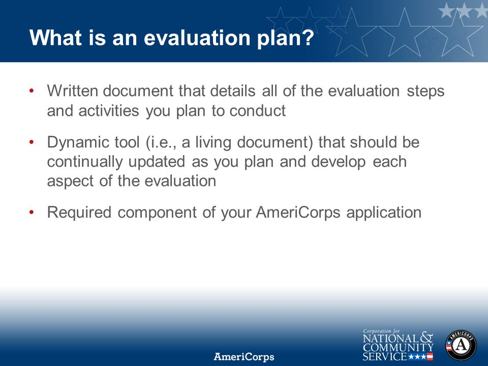 Writing An Evaluation Plan  Ppt Download