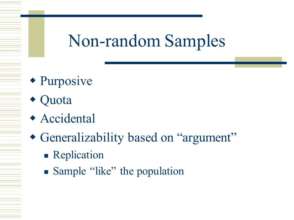 LIS 570 Selecting a Sample. - ppt download