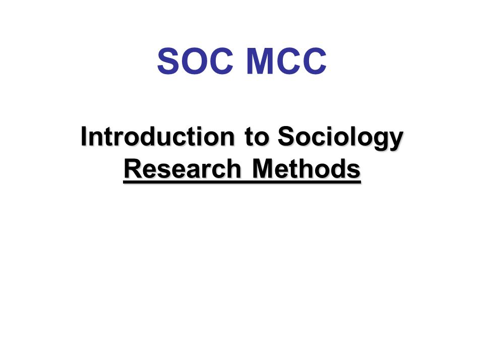 The Department of Sociology, Criminal Justice, & Criminology