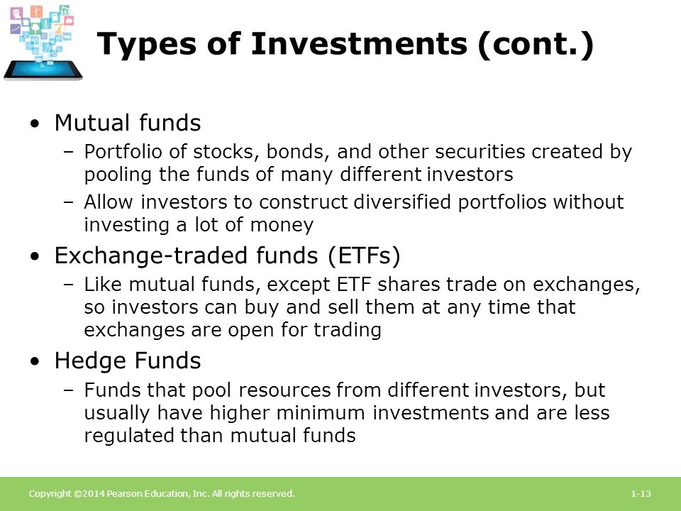 types of investment securities pdf