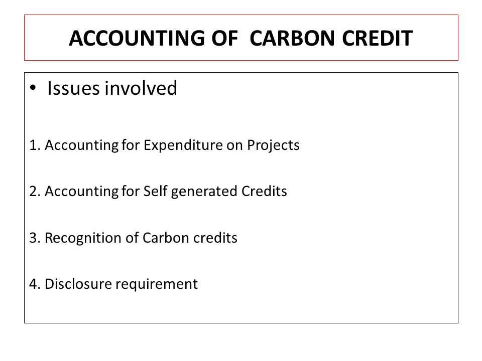 carbon credit accounting opportunities and challenges Managing carbon on federal public lands: opportunities and challenges in of carbon carbon accounting in opportunities and challenges for carbon.