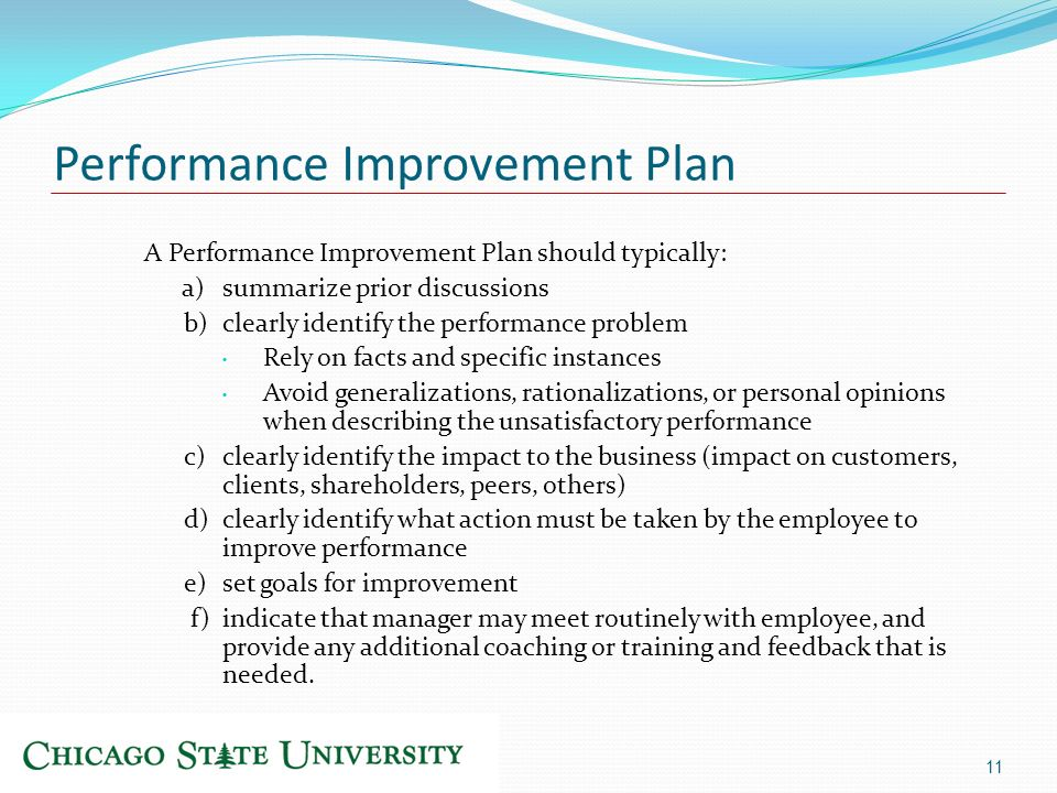 how to write a personal improvement plan