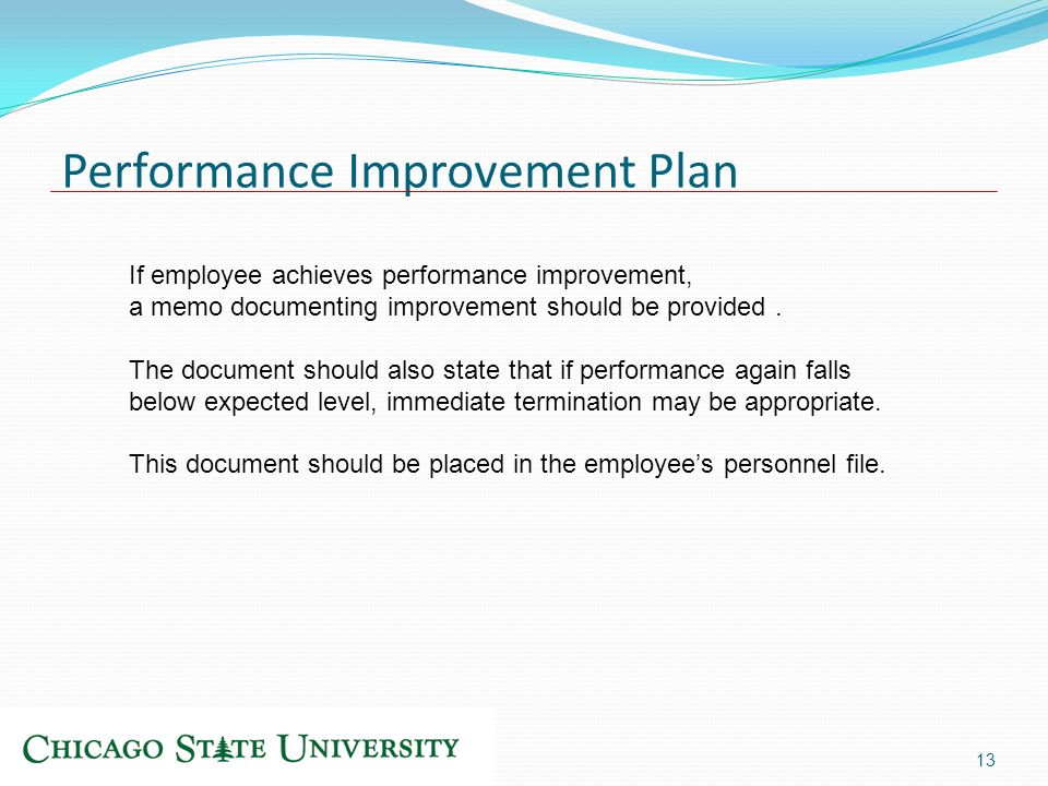 Performance Improvement Plan