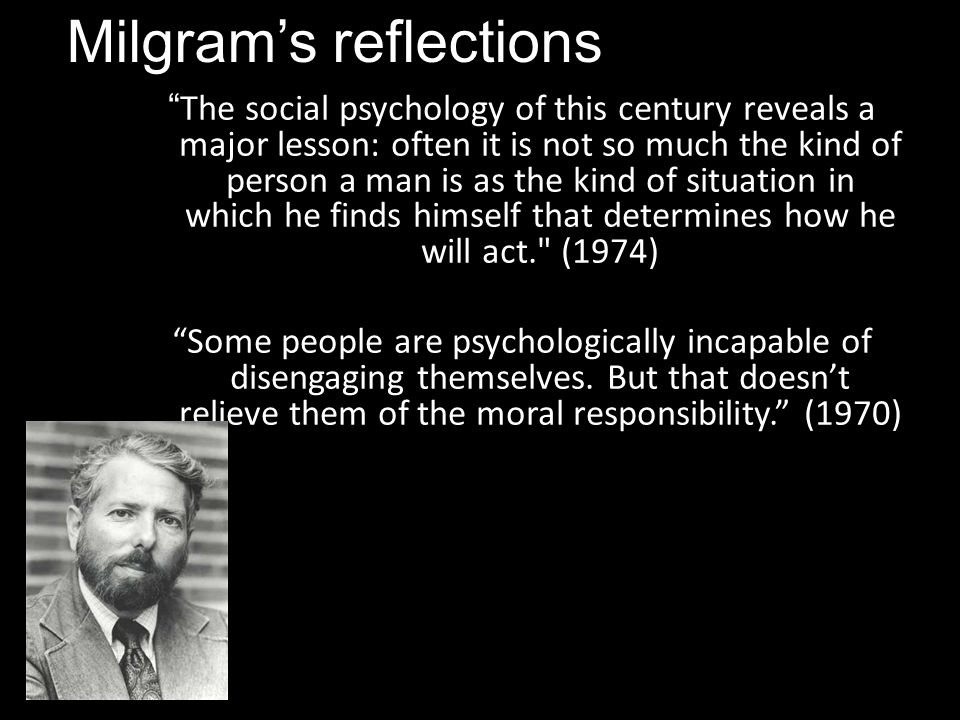 a critical review of replicating milgrim Noteworthy that burger's recent replication of milgram's research – which was   is posed by russell's analysis  critique of role-based explanations of tyranny.
