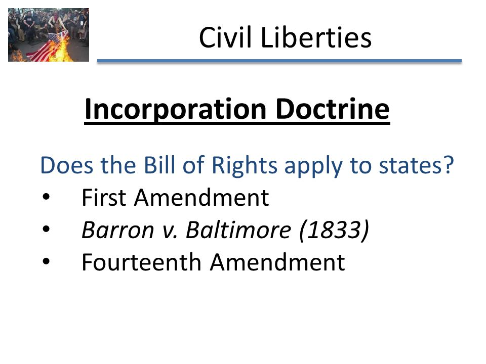 civil rights who does it apply [a] bill of rights is what the people are entitled to against every government on  earth, general or particular, and what  for another, it did not apply to everyone.