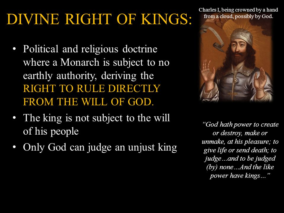 doctrine of divine right of kings Why should you care about divine right of kings in william shakespeare's  richard ii we have the answers here, in a quick and easy way.