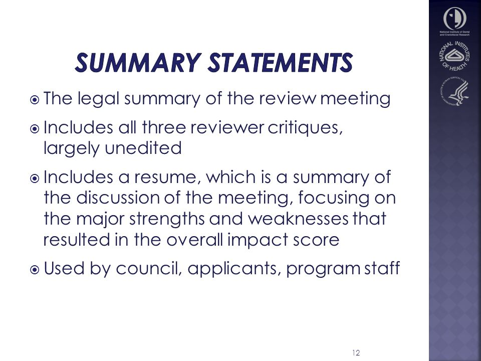legal summary