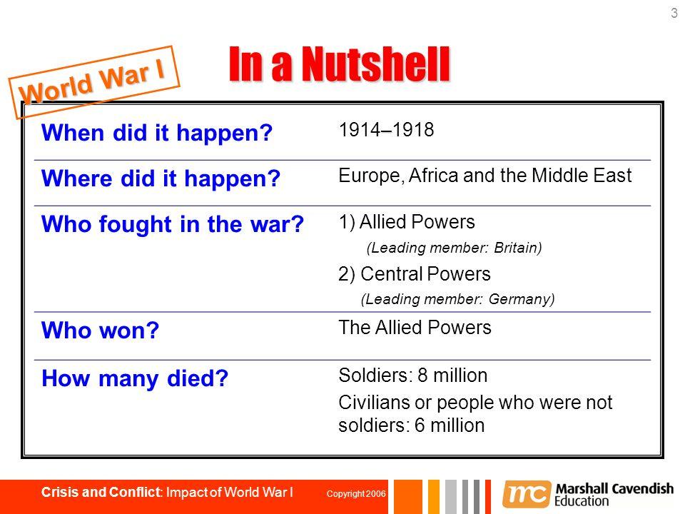How Did World War 1 Hen 2