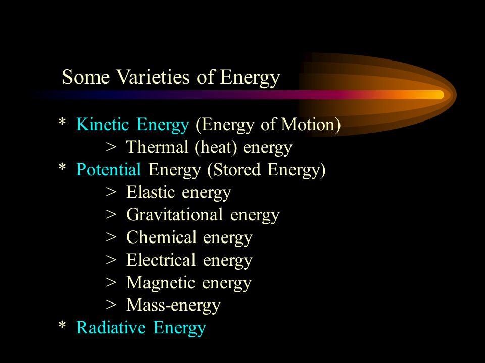 Some Varieties of Energy