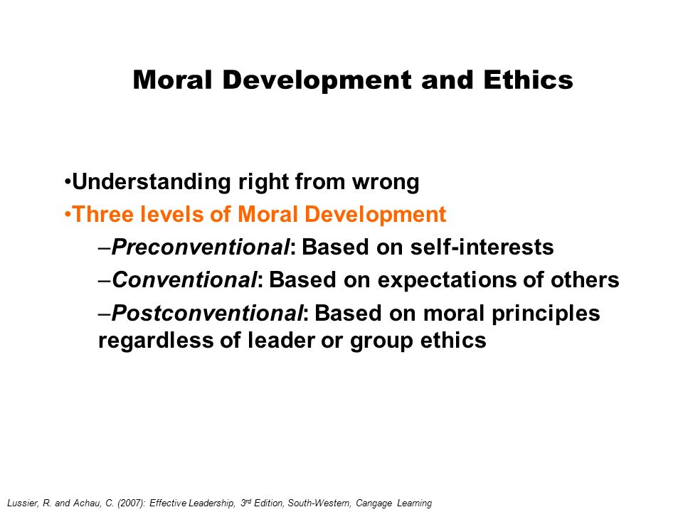 Moral Development and Ethics
