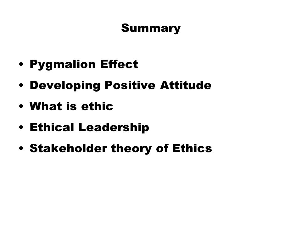 Business Ethics and Stakeholders