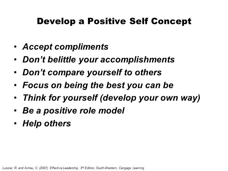 Develop a Positive Self Concept