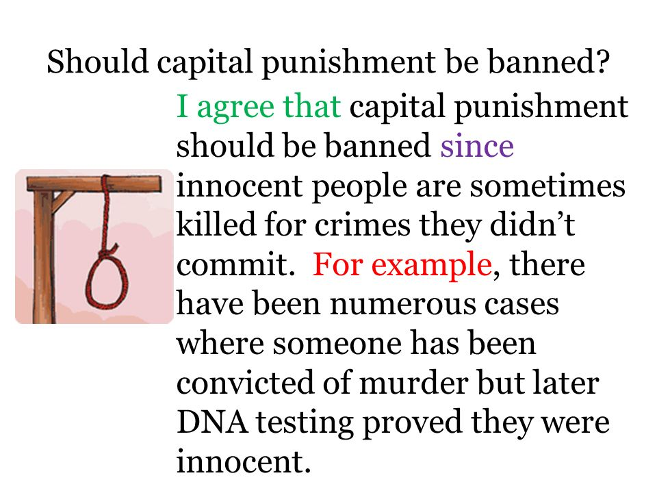 why capital punishment should be banned essay Capital punishment should be abolished essays: over 180,000 capital punishment should be abolished essays, capital punishment should be abolished term papers, capital punishment should be abolished research paper, book reports 184 990 essays, term and research papers available for unlimited access.