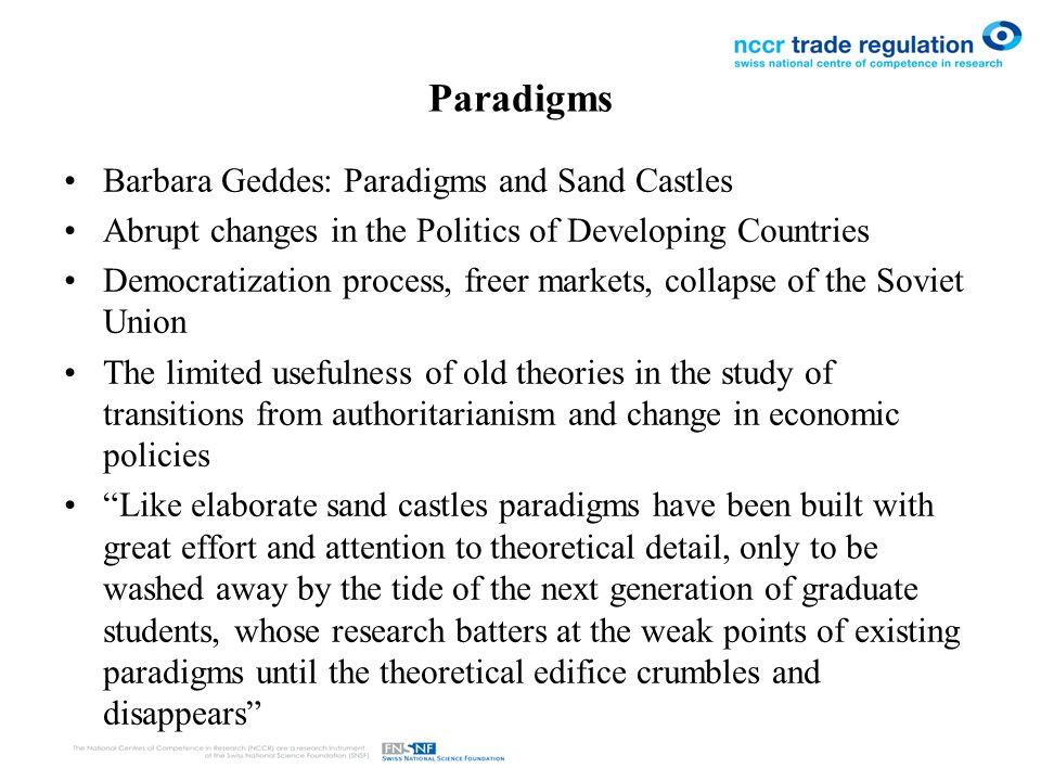 barbara geddes paradigms and sandcastles pdf