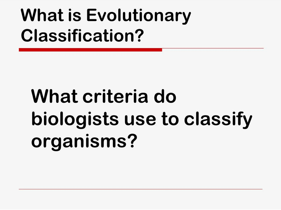 What is Evolutionary Classification ppt video online download – Section 18-2 Modern Evolutionary Classification Worksheet Answers