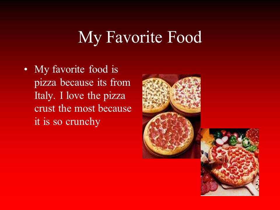 My Favourite Food Pizza Essay for Children