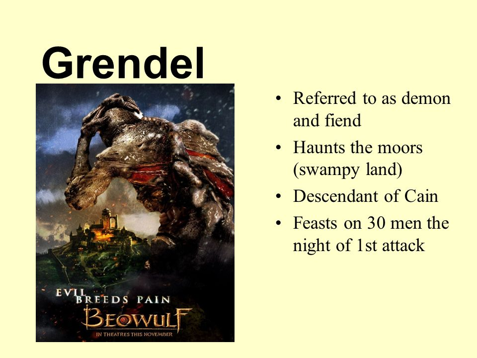 similarities of grendel of beowulf and cain of the old testament Why is grendels lineage given beowulf cuts off grendel's arm and hangs it from the rafters compared to the old testament list.