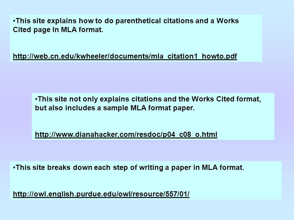 mla works cited for website