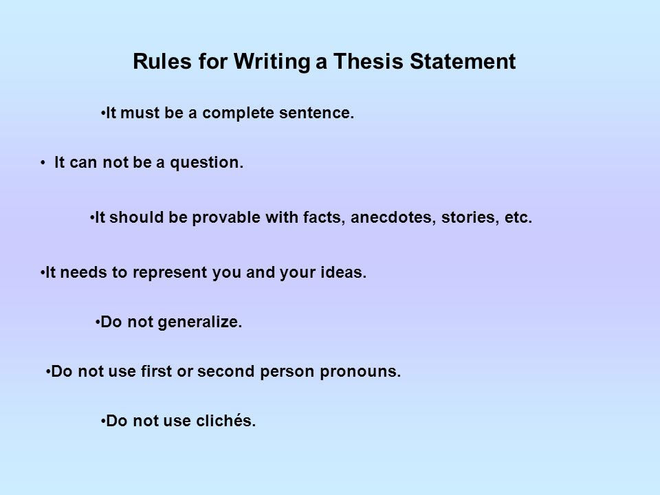 provable thesis statement A personal statement is just one of the various types of statements we are presenting with sample templates on this page, also see victim impact statements how to write a thesis statement every thesis paper should have a central idea or gist and communicates this key point.