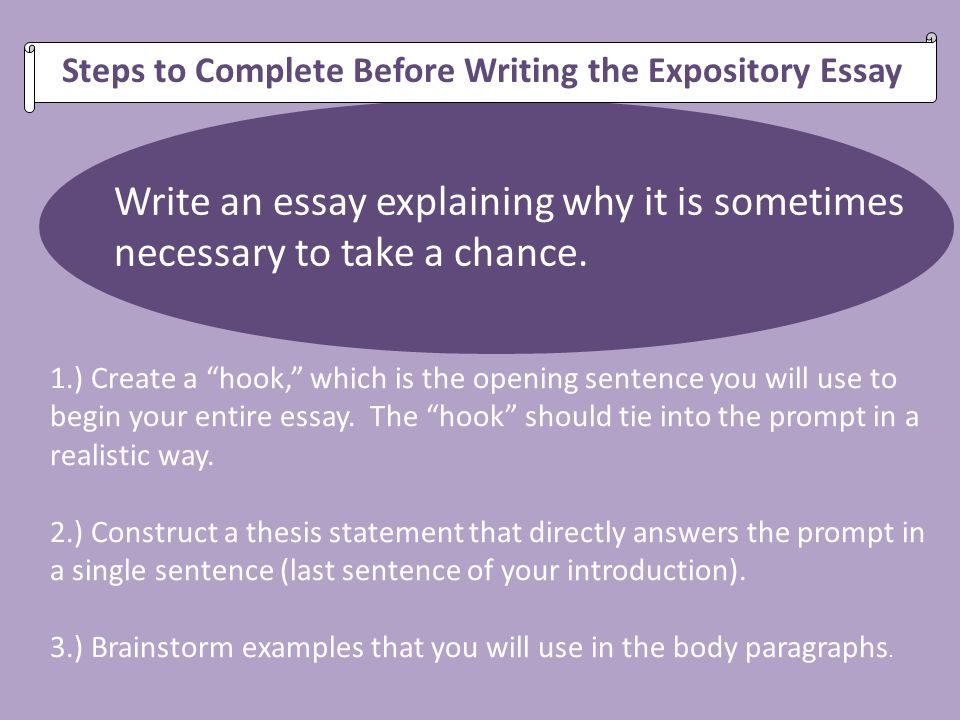 Steps in writing an essay