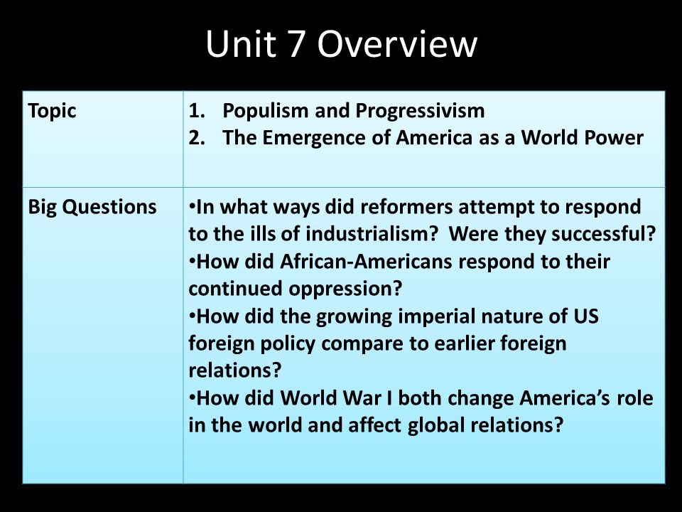 essay on american progressivism Progressivism in the united states is a broadly based reform movement that reached its height early in the 20th century it was middle class and reformist in nature it arose as a response to the vast changes brought by modernization, such as the growth of large corporations, pollution and fears of corruption in american politics.