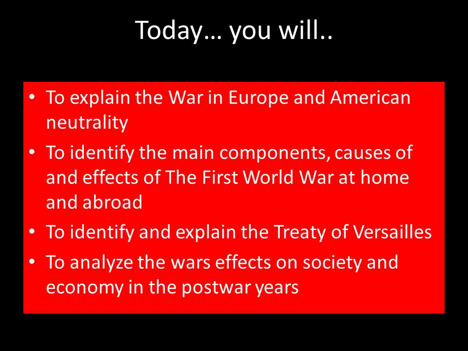 The effects of world war i on europes society and economy