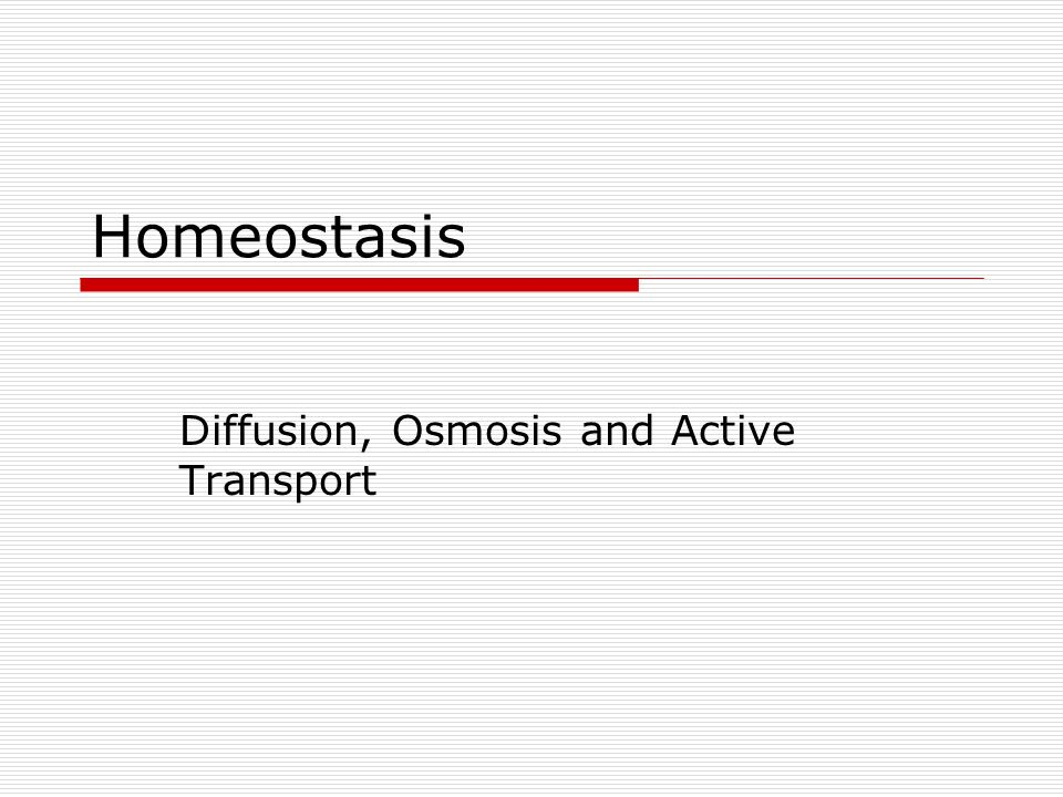 Diffusion, Osmosis and Active Transport - ppt video online download