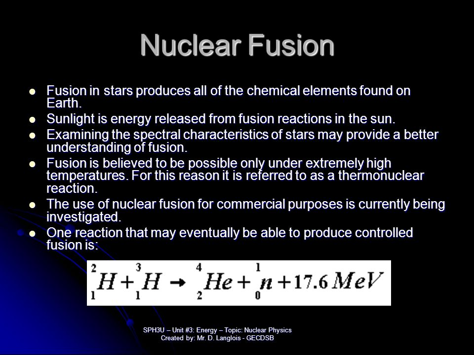 characteristics of nuclear fusion Nuclear fusion (e = mc2) • age of the sun • structure of the sun • stellar  similarities and differences • measuring stellar characteristics • stellar  luminosity.