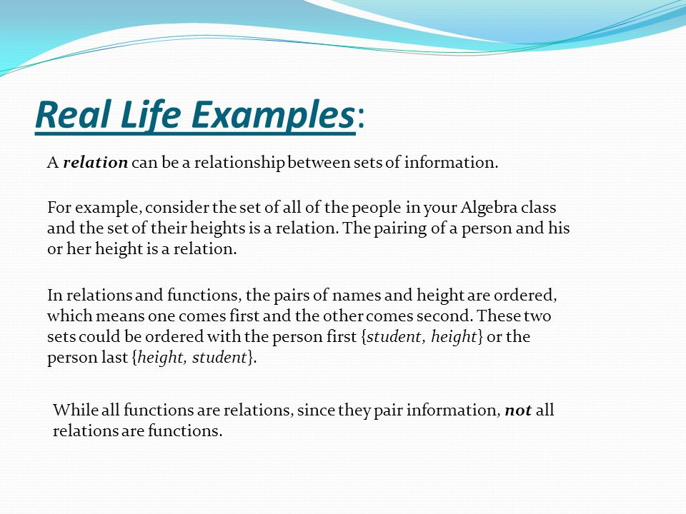 relation and relationship set